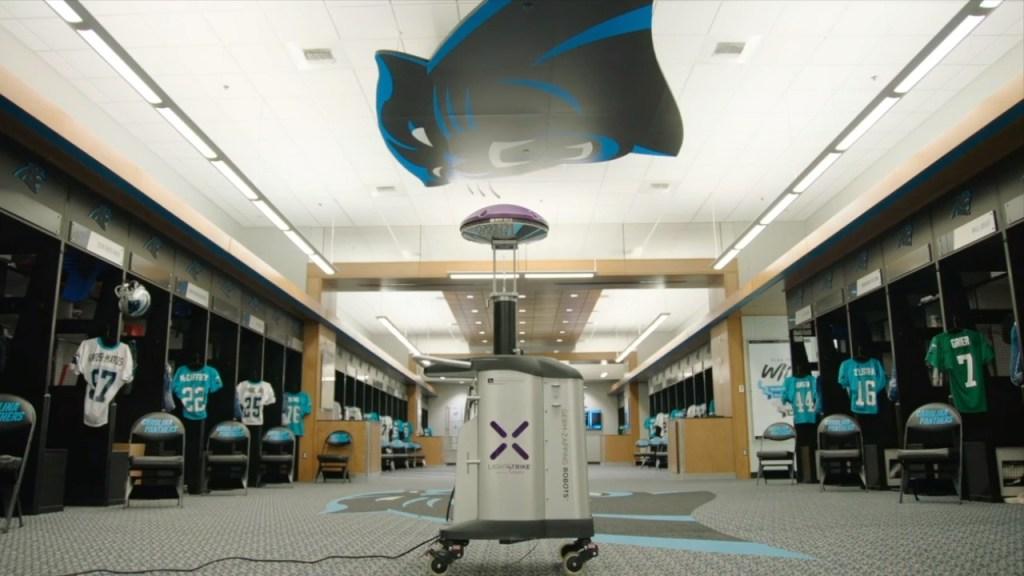 Carolina Panthers Sanatize Robot