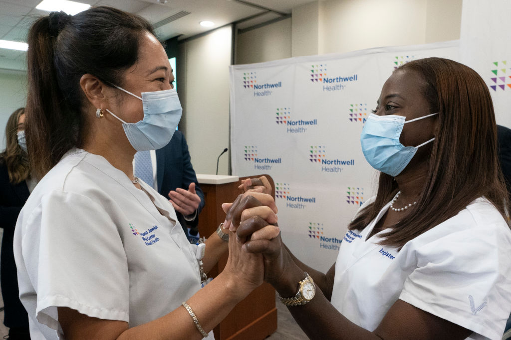 New York's Northwell Health Hospital Administers Covid Vaccines