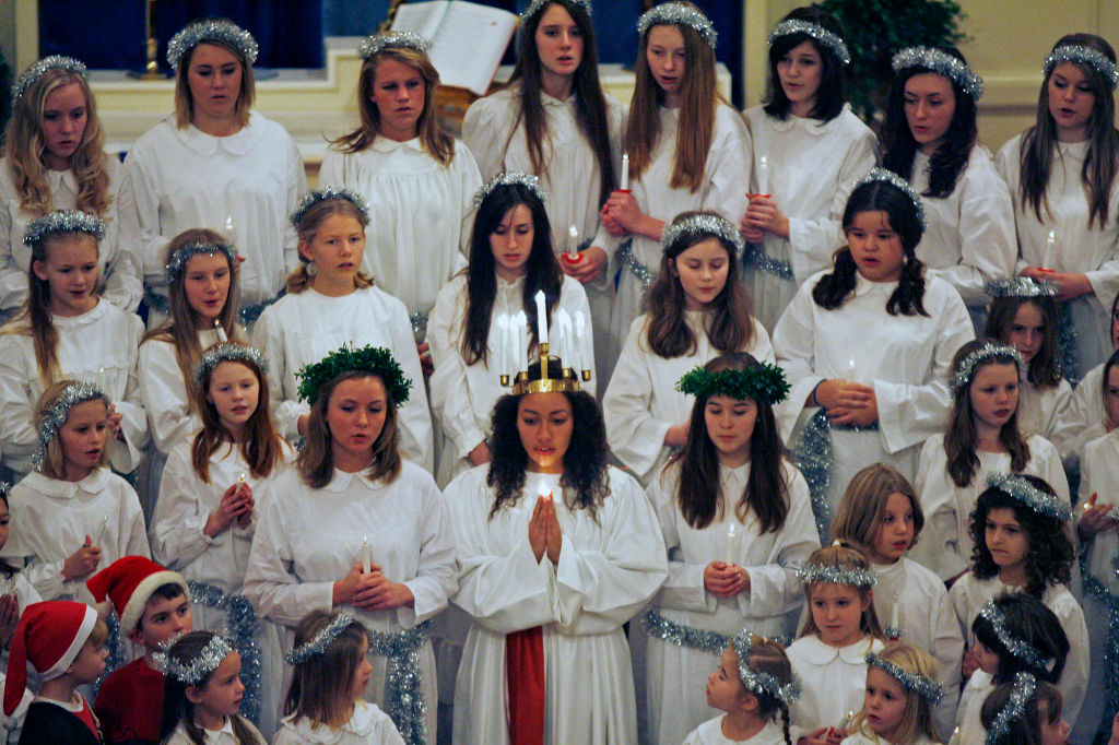 MARLIN LEVISON * mlevison@startribune.com Assign. #20010498A- December 12, 2009] GENERAL INFORMATION: The American Swedish Institute performed the Lucia Celebration of the Christmas season with a choral offering at Augustana Lutheran Church in downtown