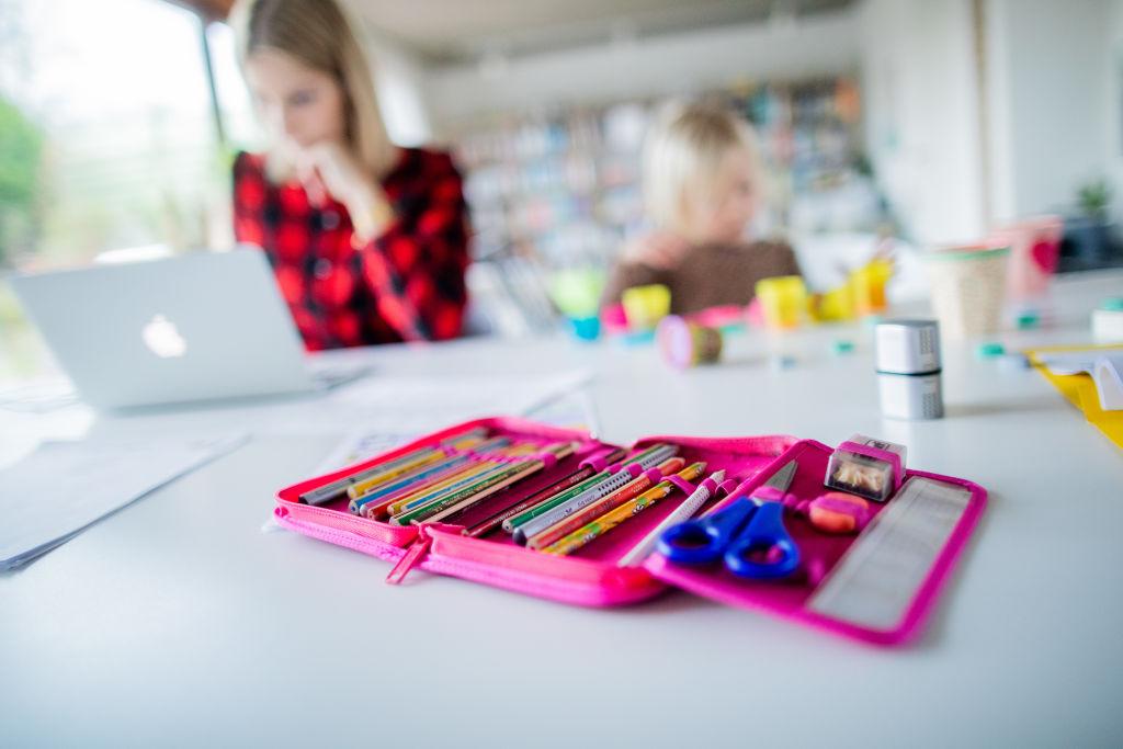 Coronavirus - teacher and kids homeschooling