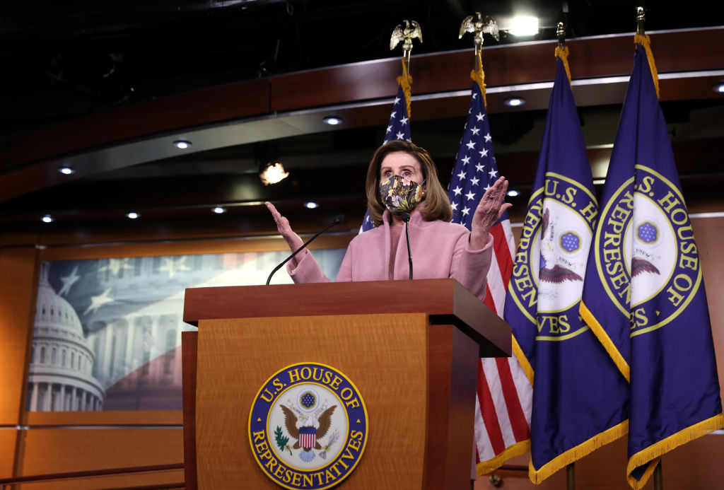 Speaker Pelosi Holds First Weekly News Conference With New Administration In Office
