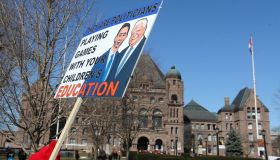 Secondary teachers represented by the Ontario English Catholic Teachers Association and Toronto members of the Ontario Secondary School Teachers Federation plan to congregate at the legislature on Thursday, as the Catholic teachers hold a provincewide stri