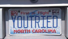Vanity License Plate - North Carolina