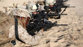 U.S. Marines train in combat marksmanship during Enhanced Mojave Viper.