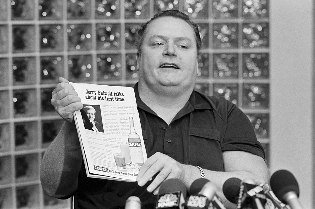 Hustler Magazine Publisher Larry Flynt Speaking to Reporters