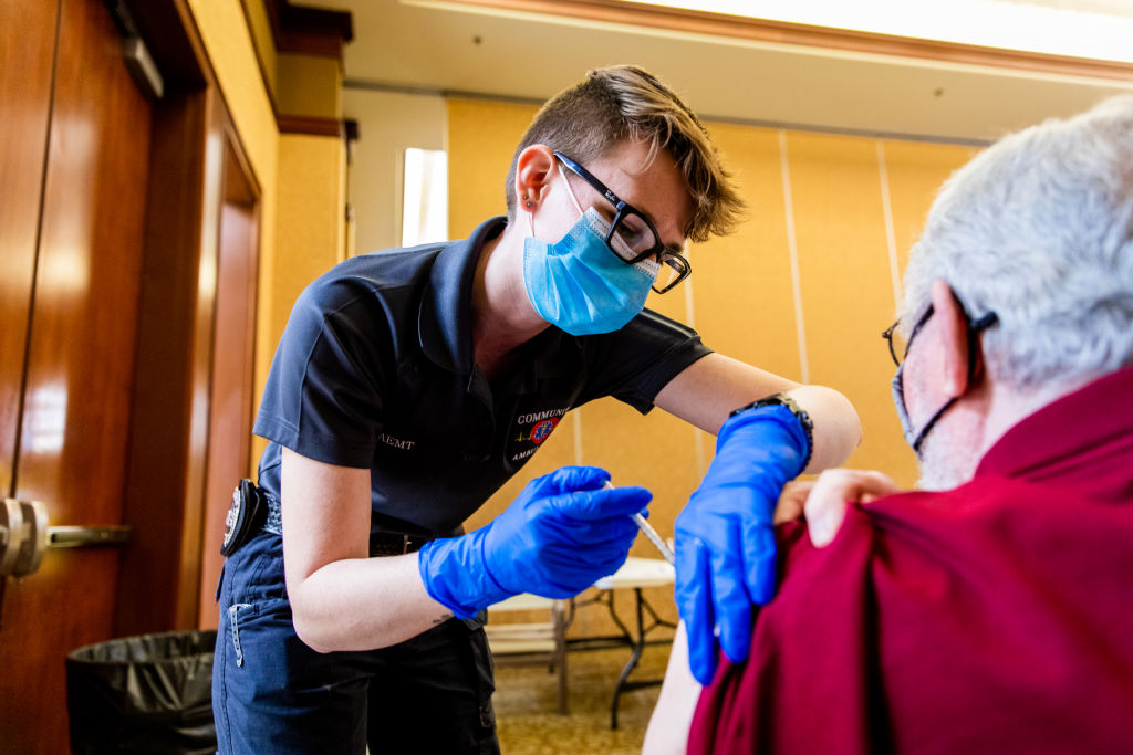 Henderson And Las Vegas Residents Receive Covid-19 Vaccination