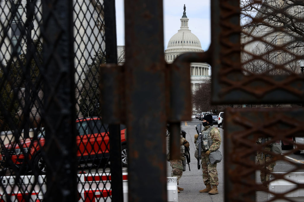 Increased Security Remains Around Capitol Hill In Washington, DC