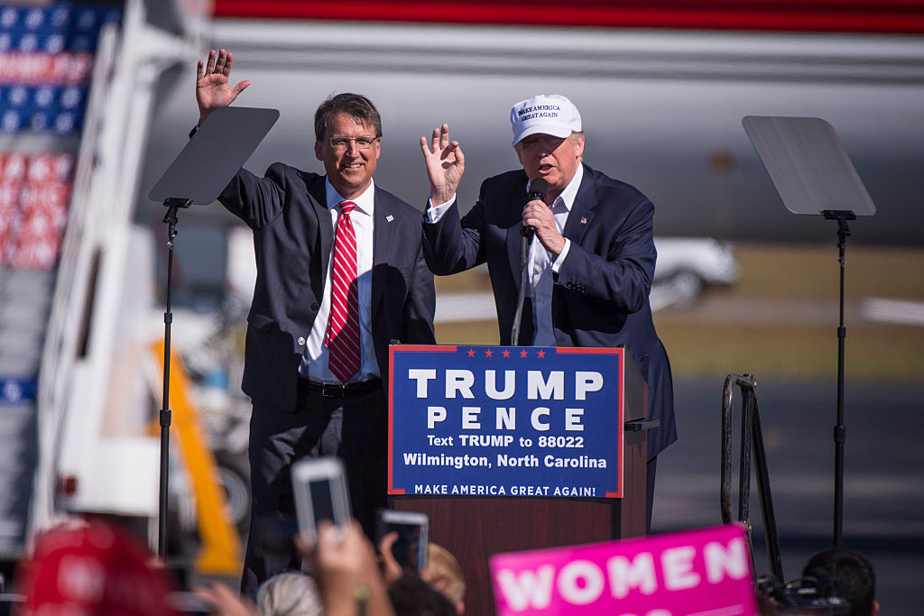 Republican presidential candidate Donald Trump in Wilmington North Carolina