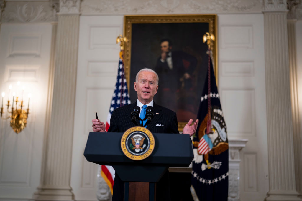 President Biden Delivers Remarks On Continuing COVID-19 Pandemic