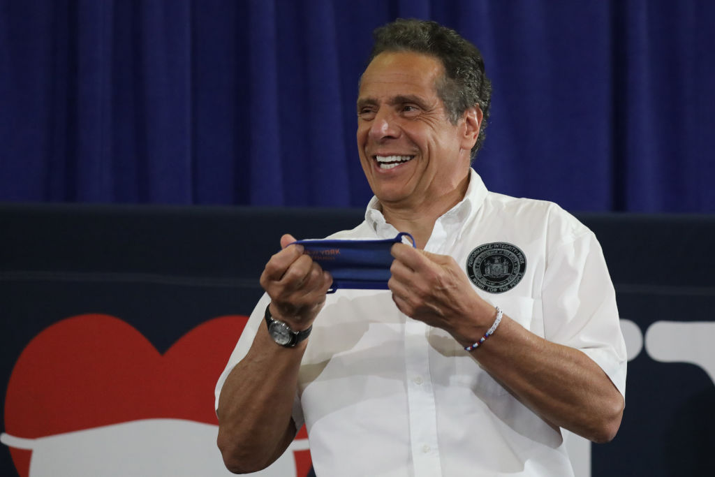 New York Governor Andrew Cuomo Holds His Daily Coronavirus In Brooklyn