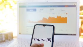 In this photo illustration the Truist Financial Corporation...