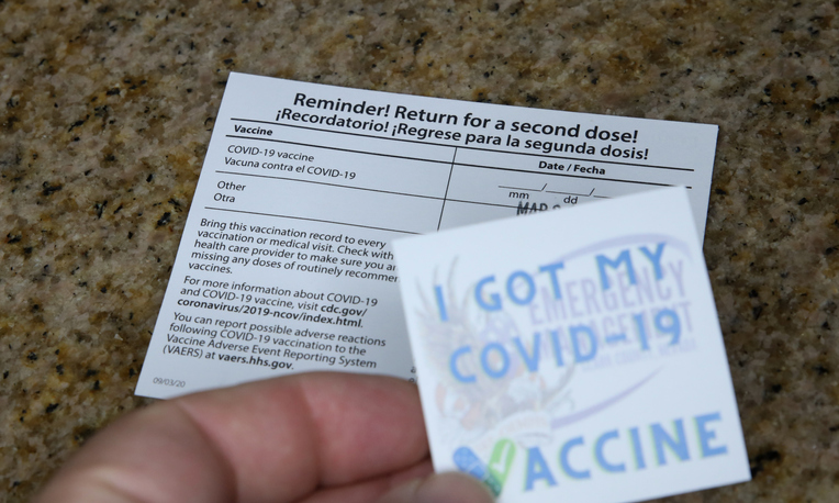 Covid-19 Vaccine Sticker and Reminder Card