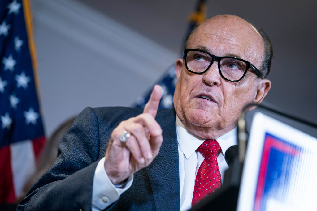 Rudy Giuliani Holds News Conference in Washington About Voter Fraud