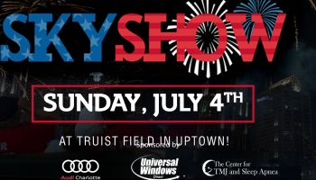 Skyshow artwork with client logos